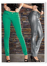 Colored and metallic jeans