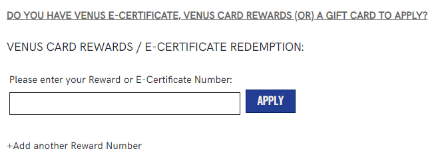 Location for entering e-certificate