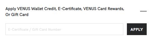 Location for entering e-certificate