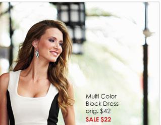 Multi Color Block Dress SALE $22
