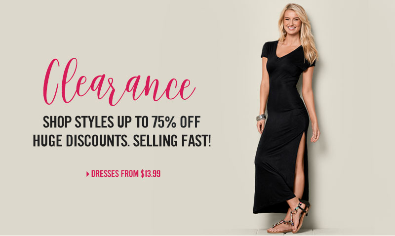 Shop clearance styles up to 75% off. Huge discounts, selling fast!