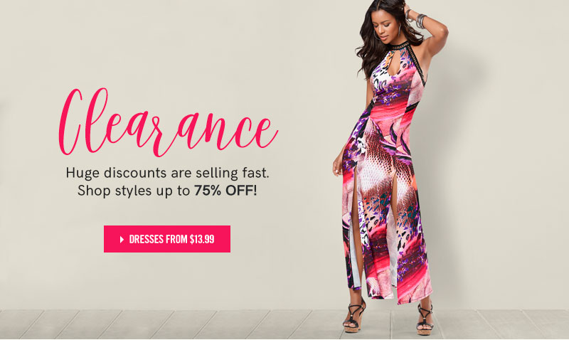 Clearance, huge discounts are selling fast. Shop styles up to 75% OFF! Shop dresses from $13.99.