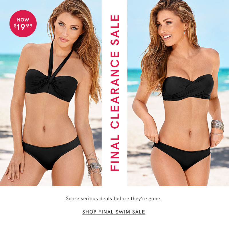Discover serious deals during the VENUS Final Swim Sale!