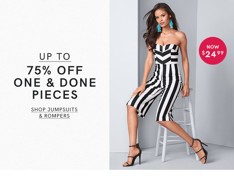 Jump into style with a jumpsuit or romper, all on clearance