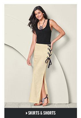 Shop Skirts & Shorts for women.