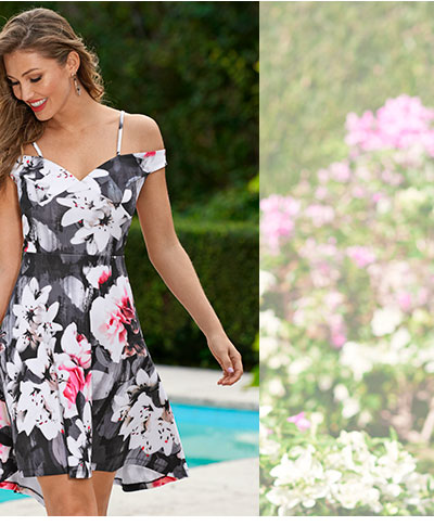 Browse our collection of spring dresses, stunning shoes & accessories.