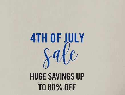 Show your patriotic pride with huge savings up to 60% off!