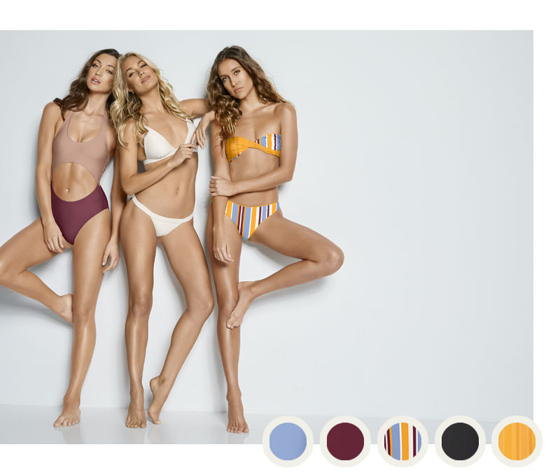 the collection. Reversible silhouettes and fresh stripe designs. 0d9858238