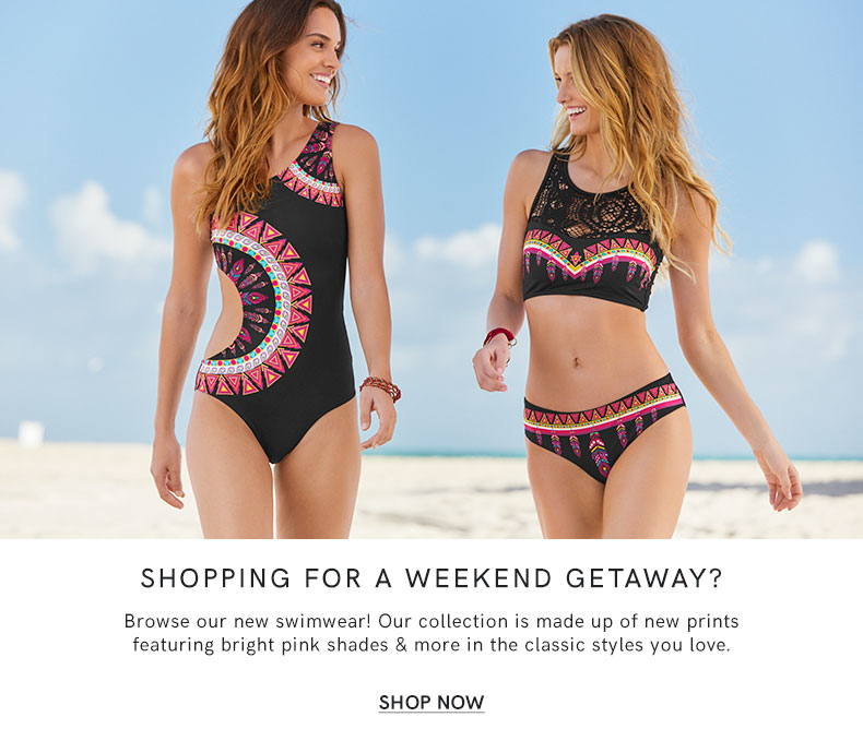Shopping for a weekend away? Browse our new swimwear!