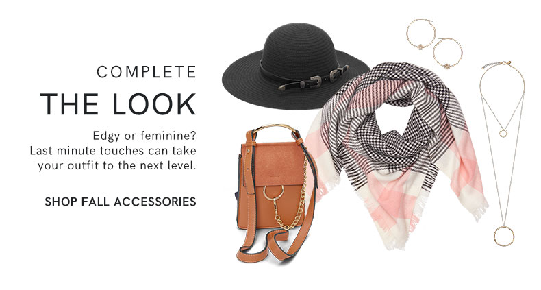 Shop new jewelry, hats, belts, scarves, handbags, and more must-have accessories for the season.