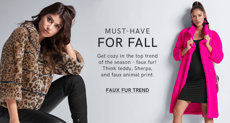 Get cozy in the top trend of the season – faux fur!