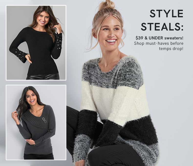 Shop $39 & UNDER sweaters!