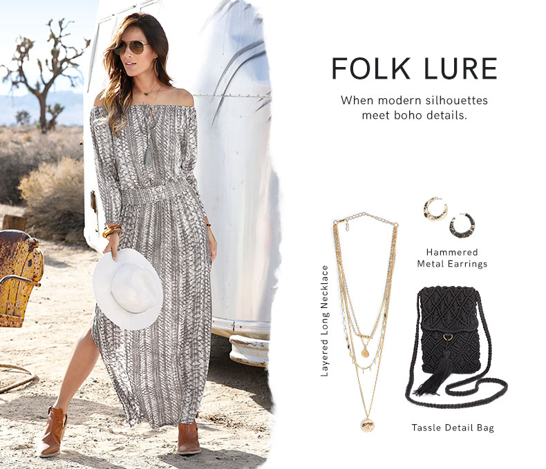 Shop the modern boho folk trend.