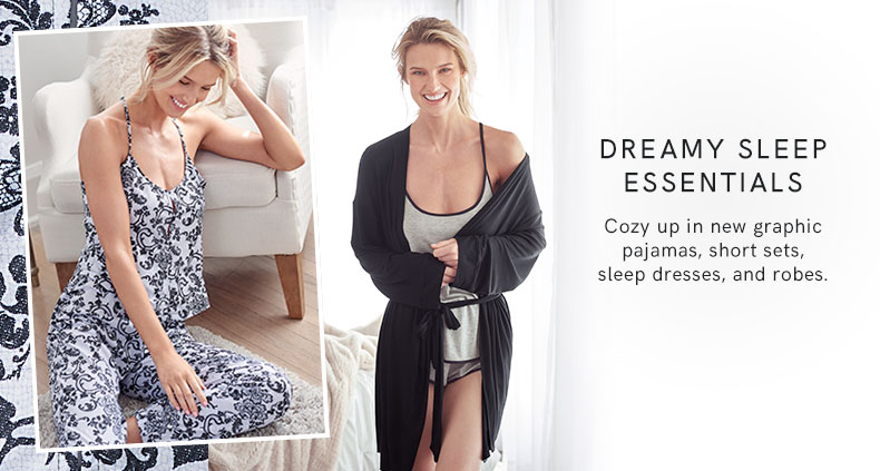 Cozy up in new sleep essentials.