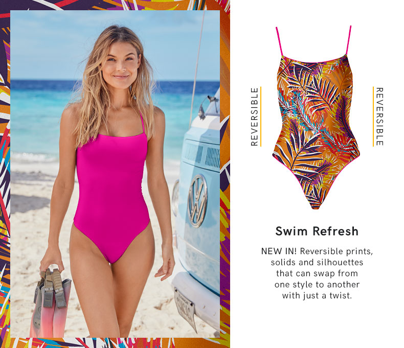 Discover the newest trend in swimwear from VENUS - reversible, multi-way bikinis and swimsuits!