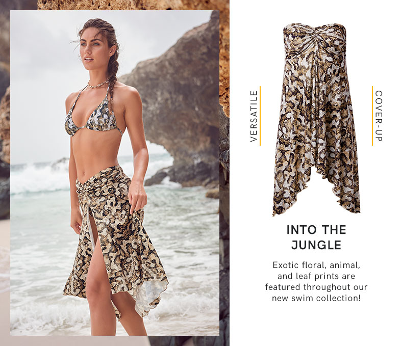 Take a trip into the Jungle with this latest collection of swimwear from VENUS