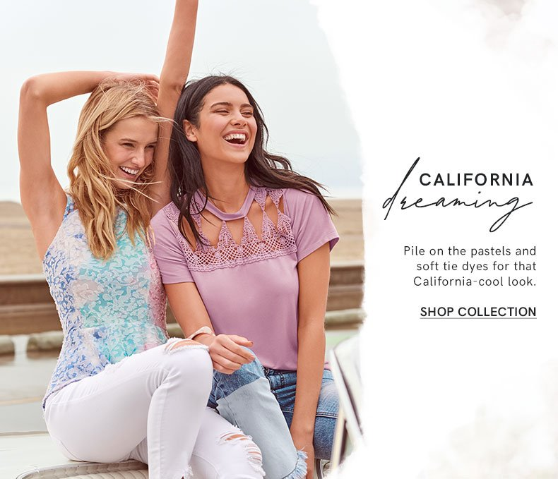 Pile on the pastels and soft tie dyes for that elevated ease.