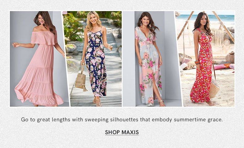 Discover the style and comfort of a maxi dress.