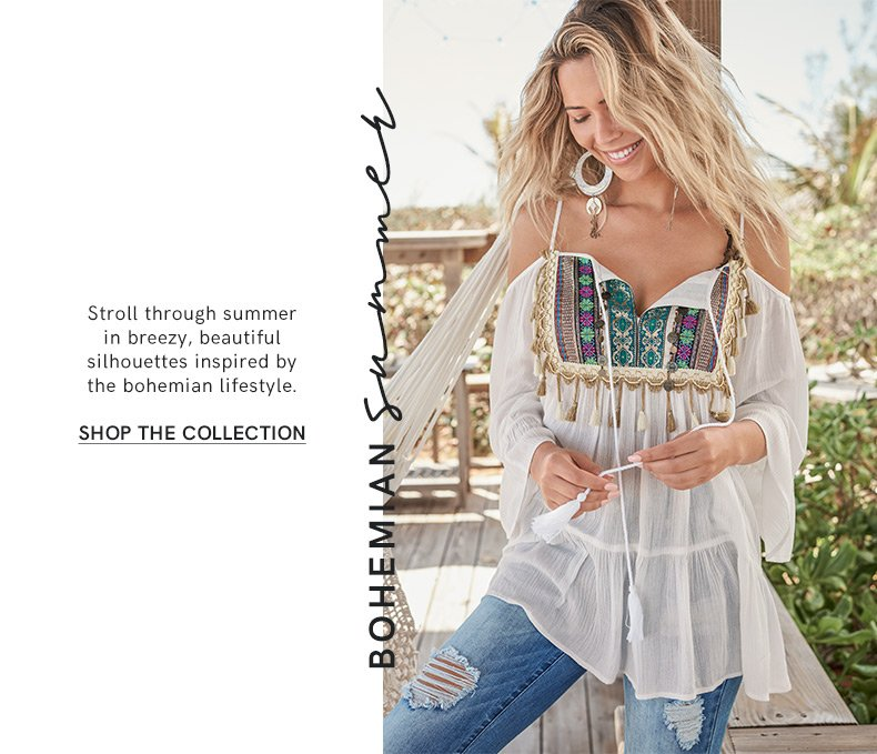 Enjoy these fashions from our Bohemian Summer collection.