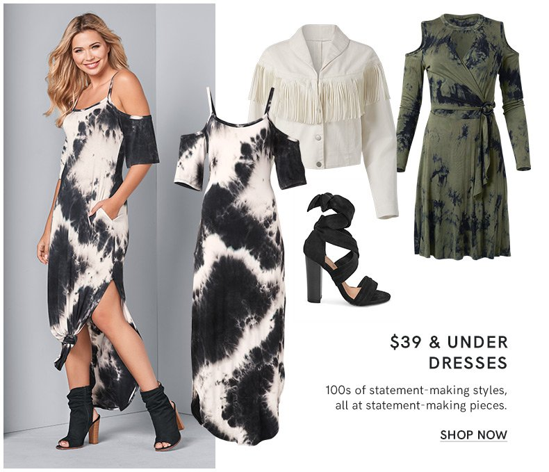 Discover our $39 & under dress Collection and make a fashion statement.