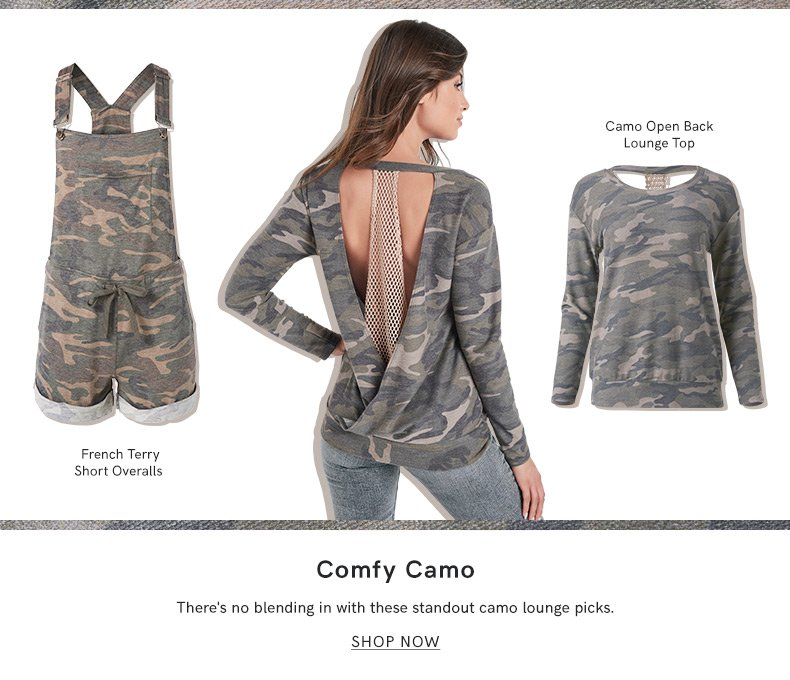 Discover our Comfy Camo Collection and make a fashion statement.