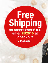 'Free Shipping on orders over $100 enter FS2015 at checkout.' from the web at 'http://www.venus.com/productimages/landing/home/20151112/venus-FS2015.jpg'