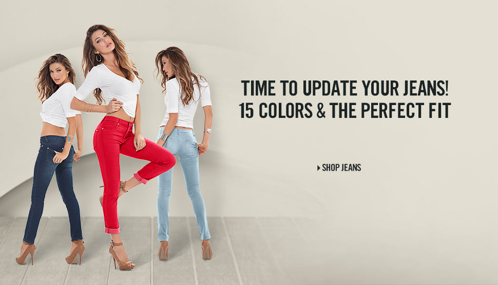 Time to update your jeans! 15 colors & the perfect fit.