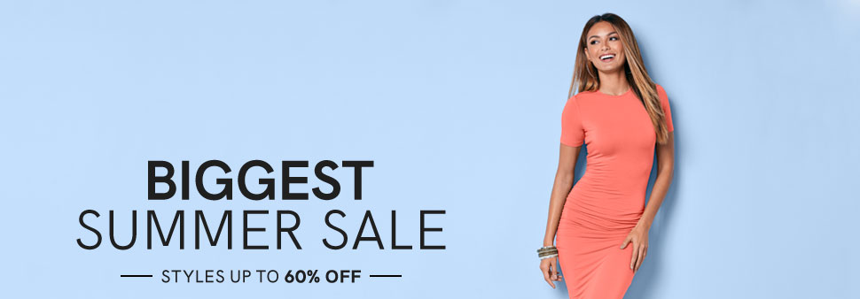 Shop the biggest summer sale up to 60% off.