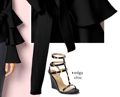 Edgy chic. Shop Heels.