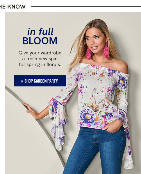 In full bloom. Give your wardrobe a fresh new spin for spring in florals.