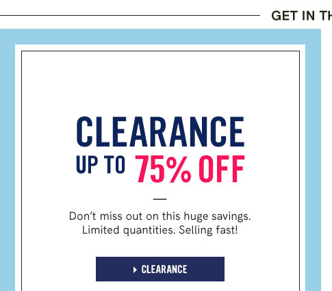 Clearance up to $75 off : Don't miss out on this huge savings. Limited quantities. Selling fast!