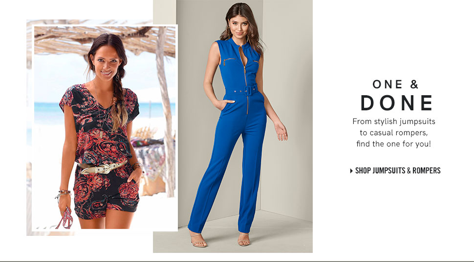 b1f636aca5 Browse our stylish Jumpsuits and Rompers