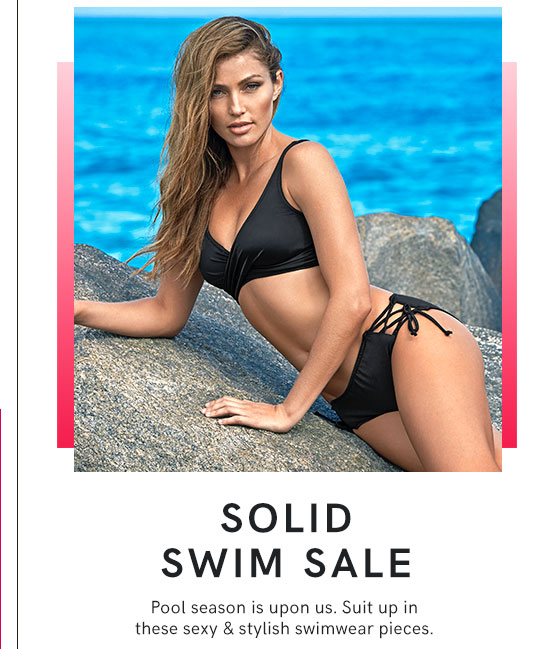 Check out our large selection of swimsuits in Solid Colors on sale.