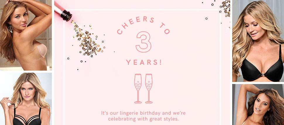 Celebrating our 3 year birthday of VENUS Lingerie!