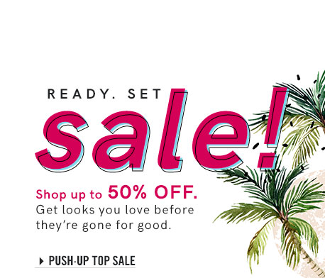 Shop our sale section of push-up bikini tops!