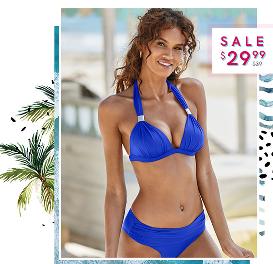 42de0878b4166 ... bikini tops! Sale on our swimwear in solid colors. Save up to 50% on  our Push-Up Tops Sale!