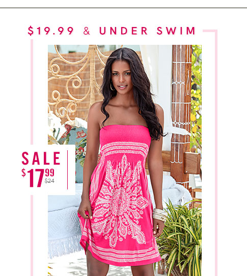 Shop our selection of swimwear at $19.99 and under!