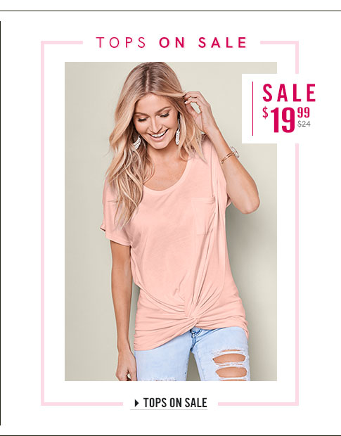 Find fresh tops in all of your favorite styles on sale at Venus!