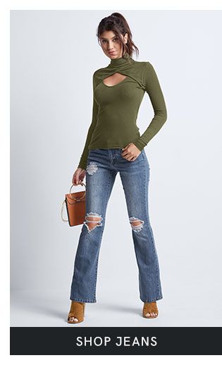 Shop women's jeans in a variety of washes and colors at VENUS.
