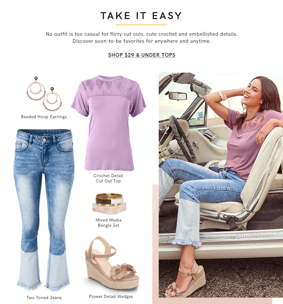 Find great deals on Women's tops from $29 and under!