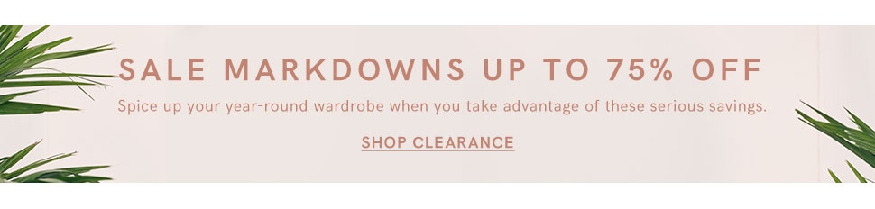 Find all of your favorite VENUS fashions and swimwear on clearance!