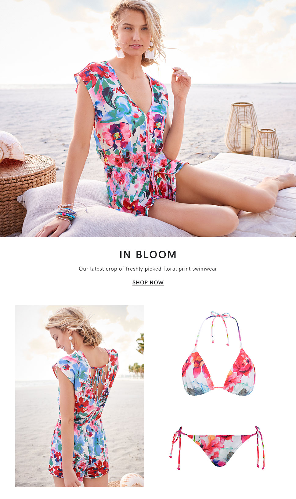 Discover our Fluid Floral swimwear collection.