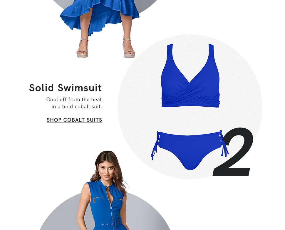 Find the right swimsuit in your favorite solid color.