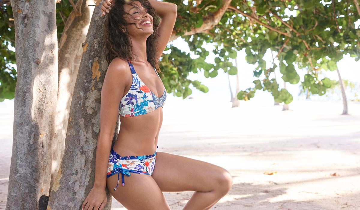 Shop our Paradise Garden Swim Collection from VENUS.