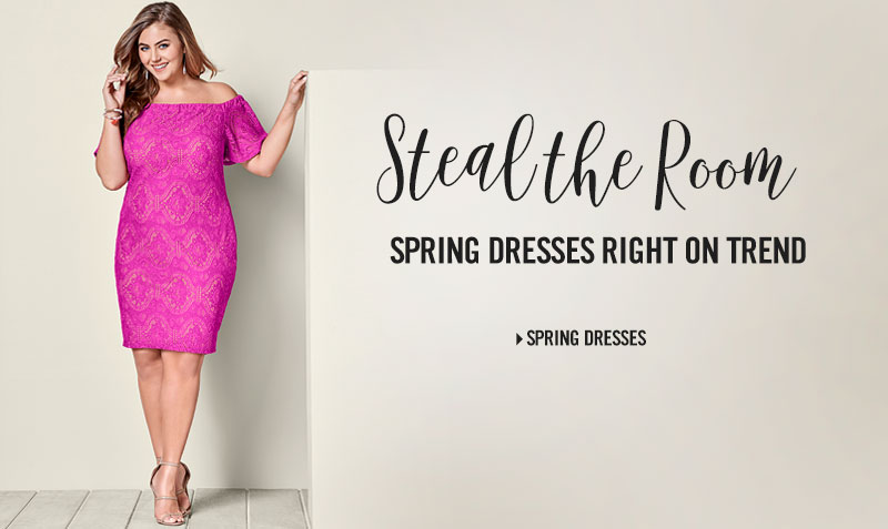 Steal the room. Spring dresses right on trend.