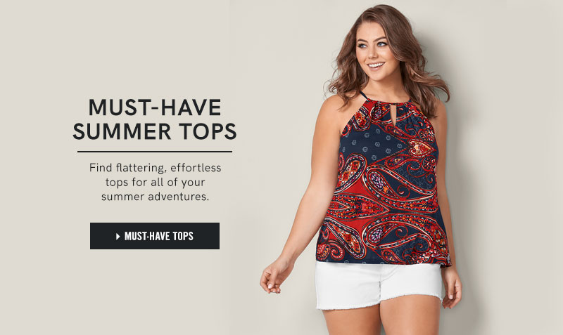 Must-Have Tops: Find flattering, effortless tops for all of your summer adventures.