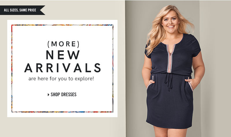 Shop our plus size dresses.