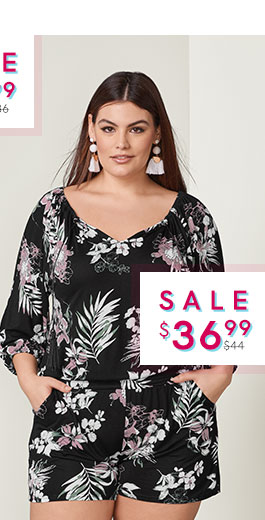 568d3683bc Jump into style with a VENUS plus size jumpsuit or romper!