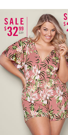 3a2ec5e9667 Jump into style with a VENUS plus size jumpsuit or romper!