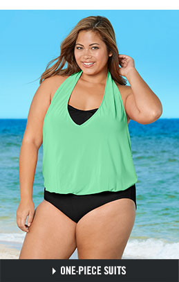 28a6161147 Shop Plus-Size One-Piece Swimsuits.